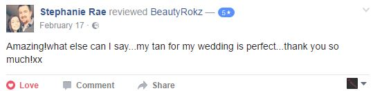 wedding tan review